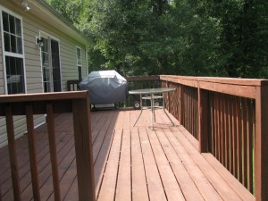Large Private deck with 1 Acre